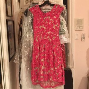 Pink and cream Anthropologie dress